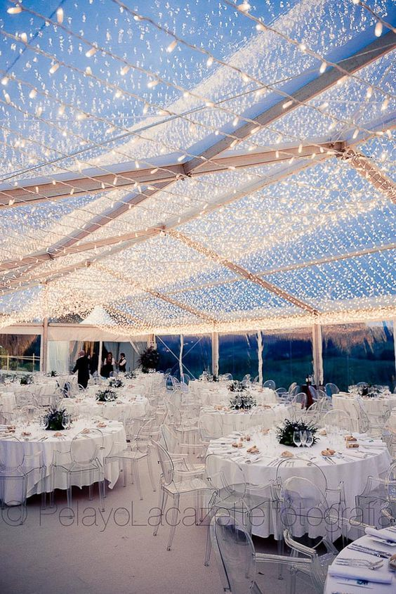 Carpa Transparente Iluminada Lucecitas Asturias Pelayo Lacazette Wedding Venue Decorations Wedding Lights Wedding Hall