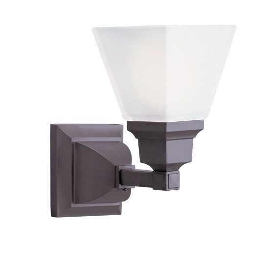 Photo of Livex Lighting 1031-07 Bronze Mission 1 Light Wall Sconce