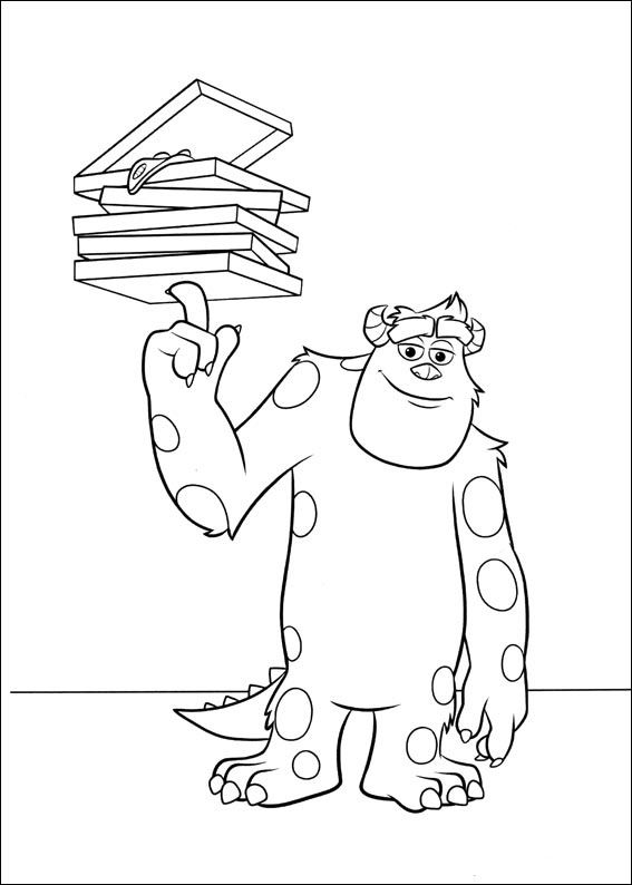 Monsters Inc. - University Coloring Pages 17 | Coloring Pages ...