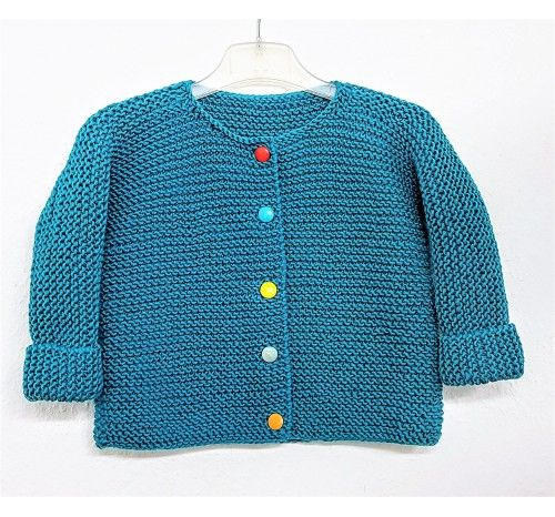 Photo of Baby / children's jacket knitted in one piece