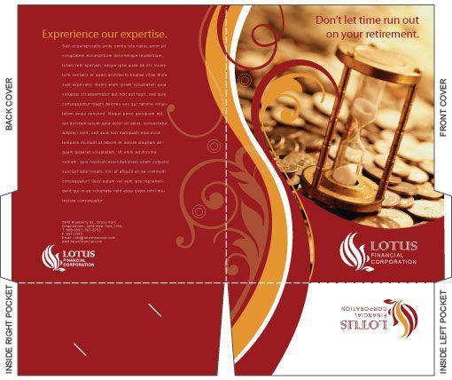 Free Illustrator Templates Company Folder Brochures  Free