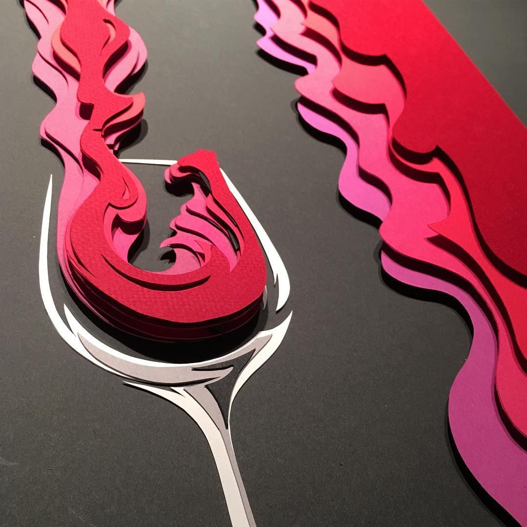 Bowman Paper Art On Instagram Wine Series 1 Wine Winecountry Wineglass Wine Winepour Paper Paperart Papercut Papercutart Papercraft Paperartis