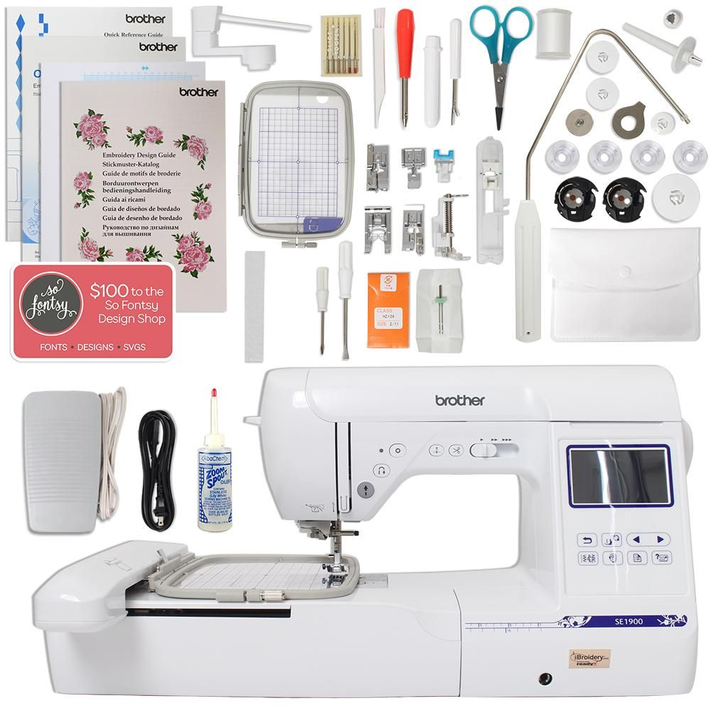Brother Se1900 Combination Sewing And Embroidery Machine With 5 X7