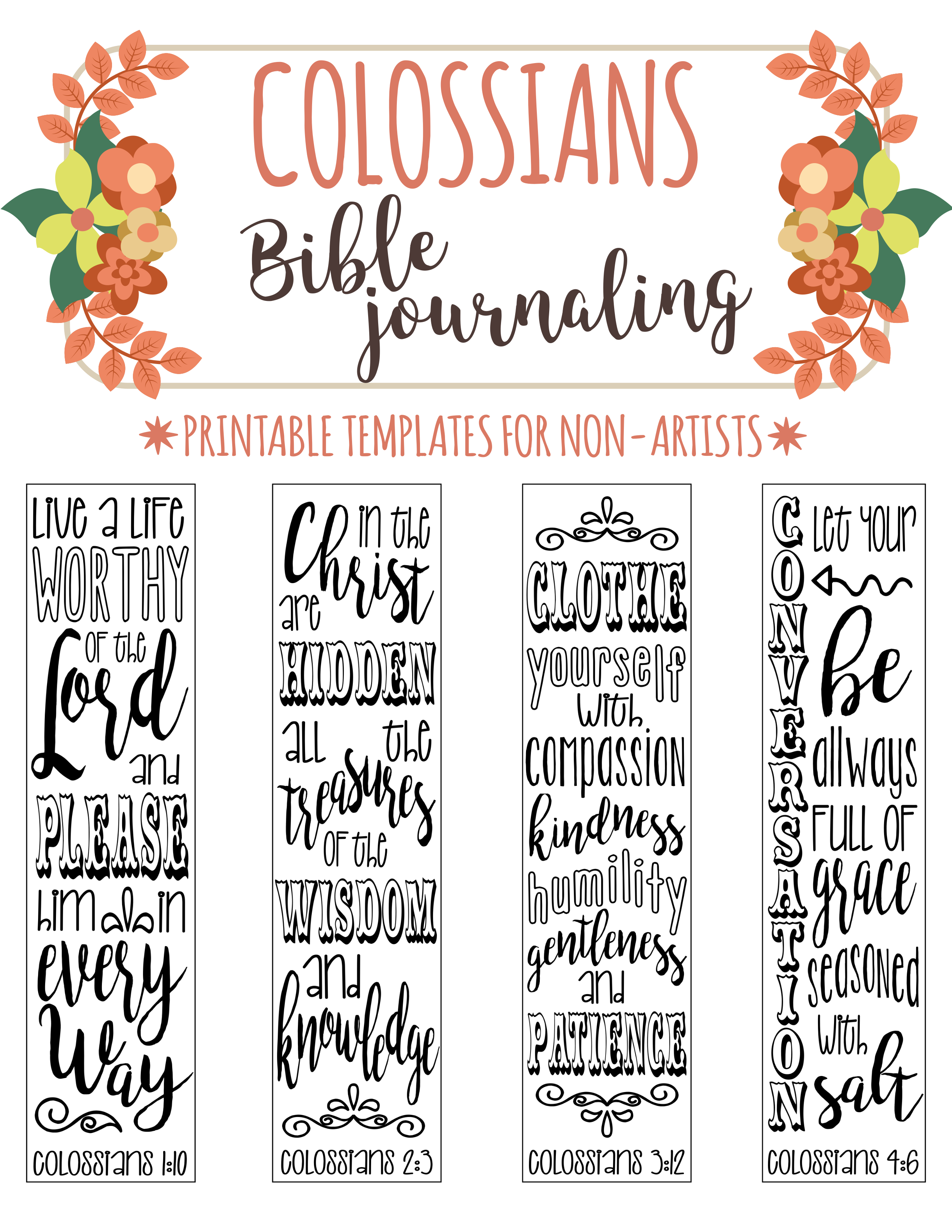 4 Bible Journaling Printable Templates Illustrated