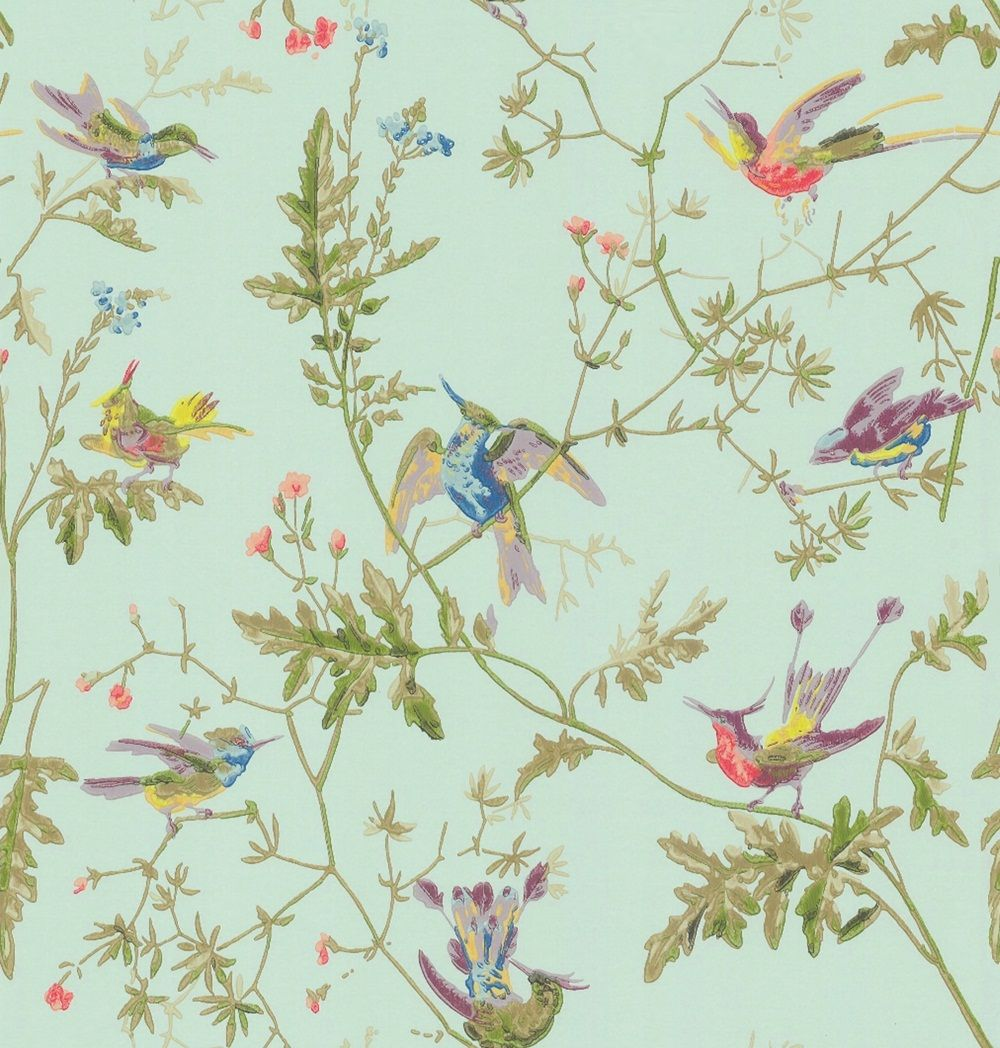 Vintage Dark Birds and Flowers Wallpaper Nature Wall Mural