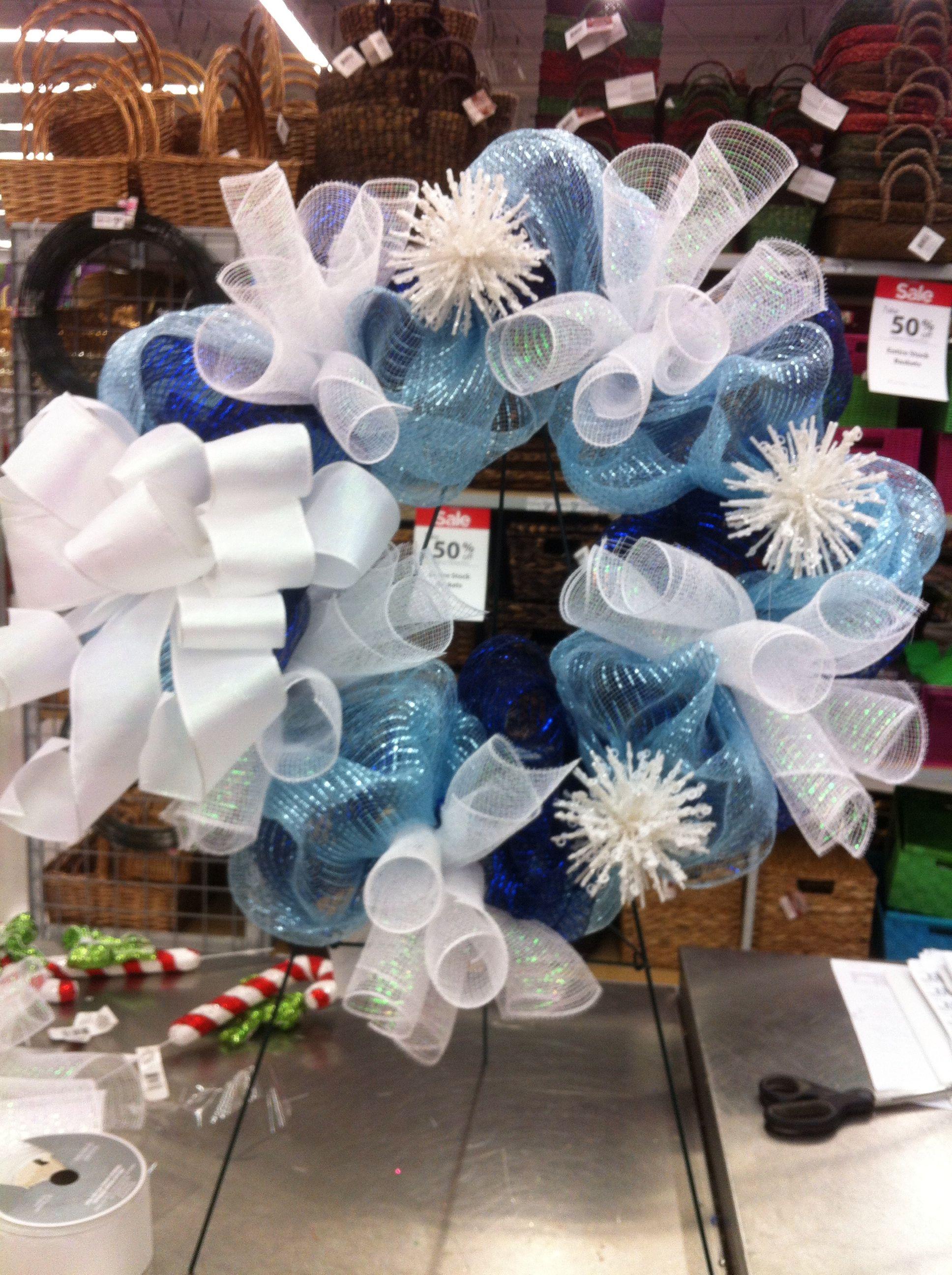 Frosty winter wreath by kristy@michaels