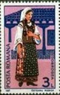 Rumanía-Traje Folclórico Femenino de Dobrogea