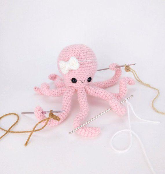 PATTERN: Olivia the Octopus pattern - amigurumi octopus pattern - crocheted octopus pattern - crochet octopus - PDF crochet pattern