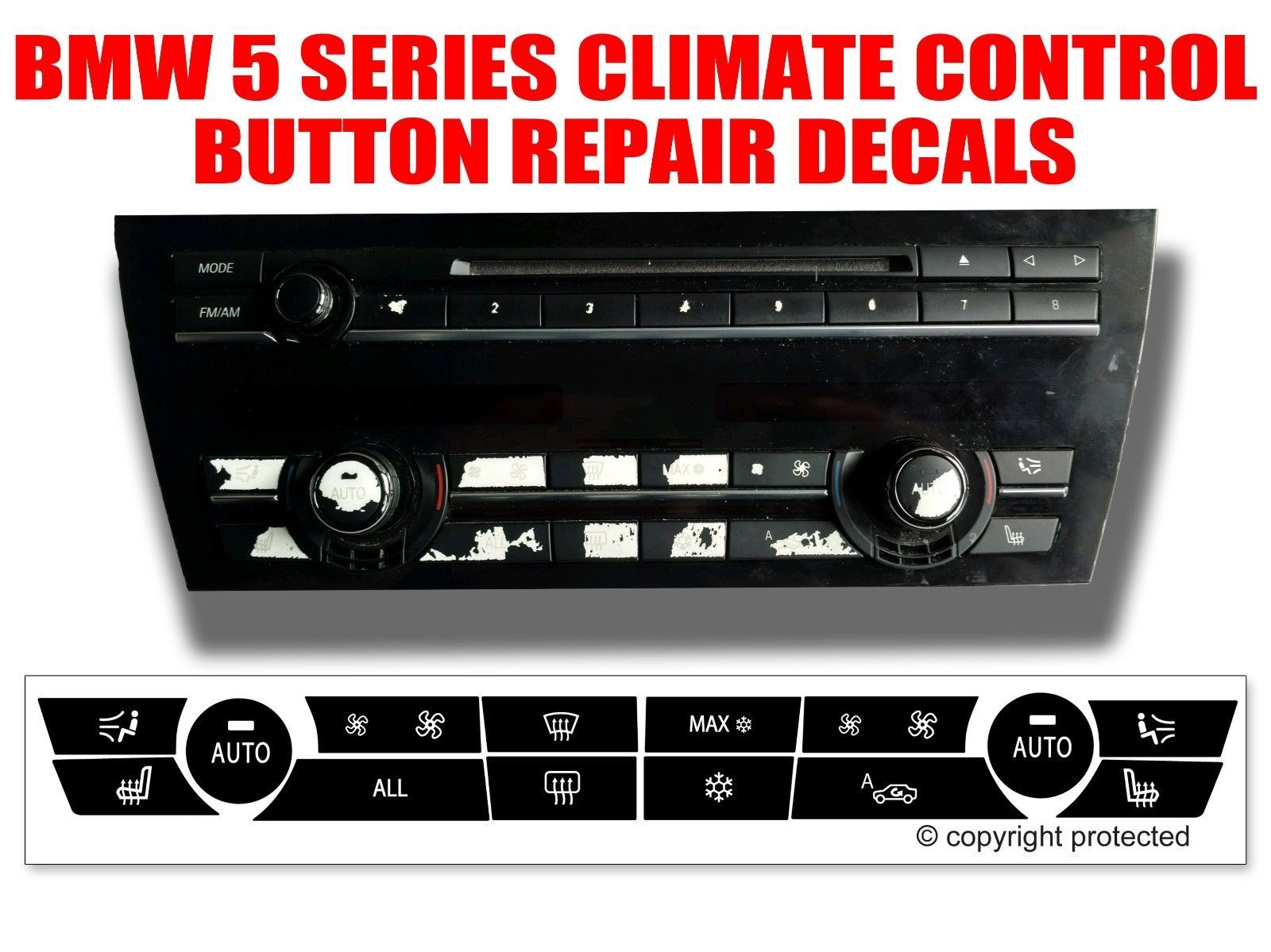 Nice Great Bmw 5 Series Dash Climate Control Panel Button Repair