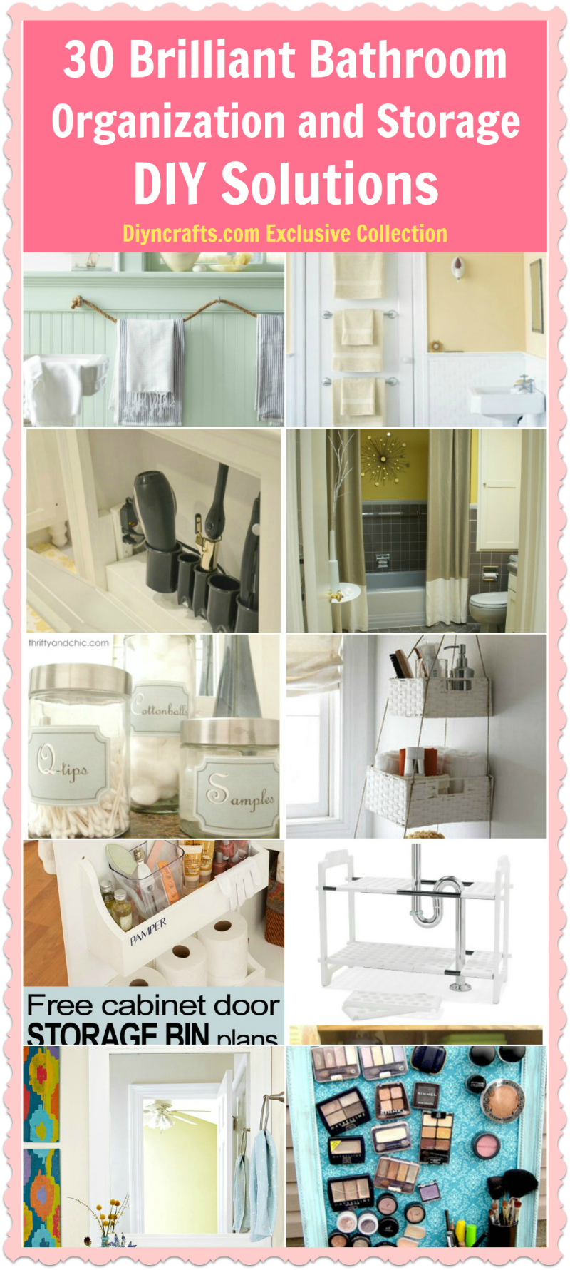 30 brilliant bathroom organization and storage diy solutions do it yourself bathroom - Organization solutions for small spaces paint ...