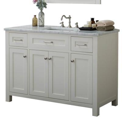 Home Elements Redmond 48 In W X 34 2 In H Bath Vanity In White