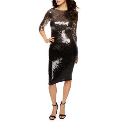 Buy Premier Amour 3 4 Sleeve Ombre Sequin Sheath Dress at JCPenney.com  today and Get Your Penney s Worth. Free shipping available 9d425dd49d6d