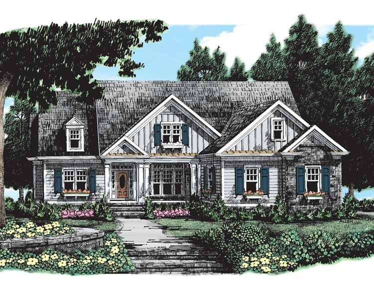 Cottage House Plan With  Square Feet And  Bedroomss From Dream Home