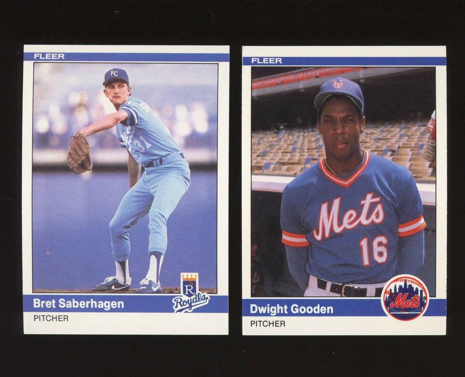 1984 Fleer Update Baseball Set 130132 W Saberhagen Gooden