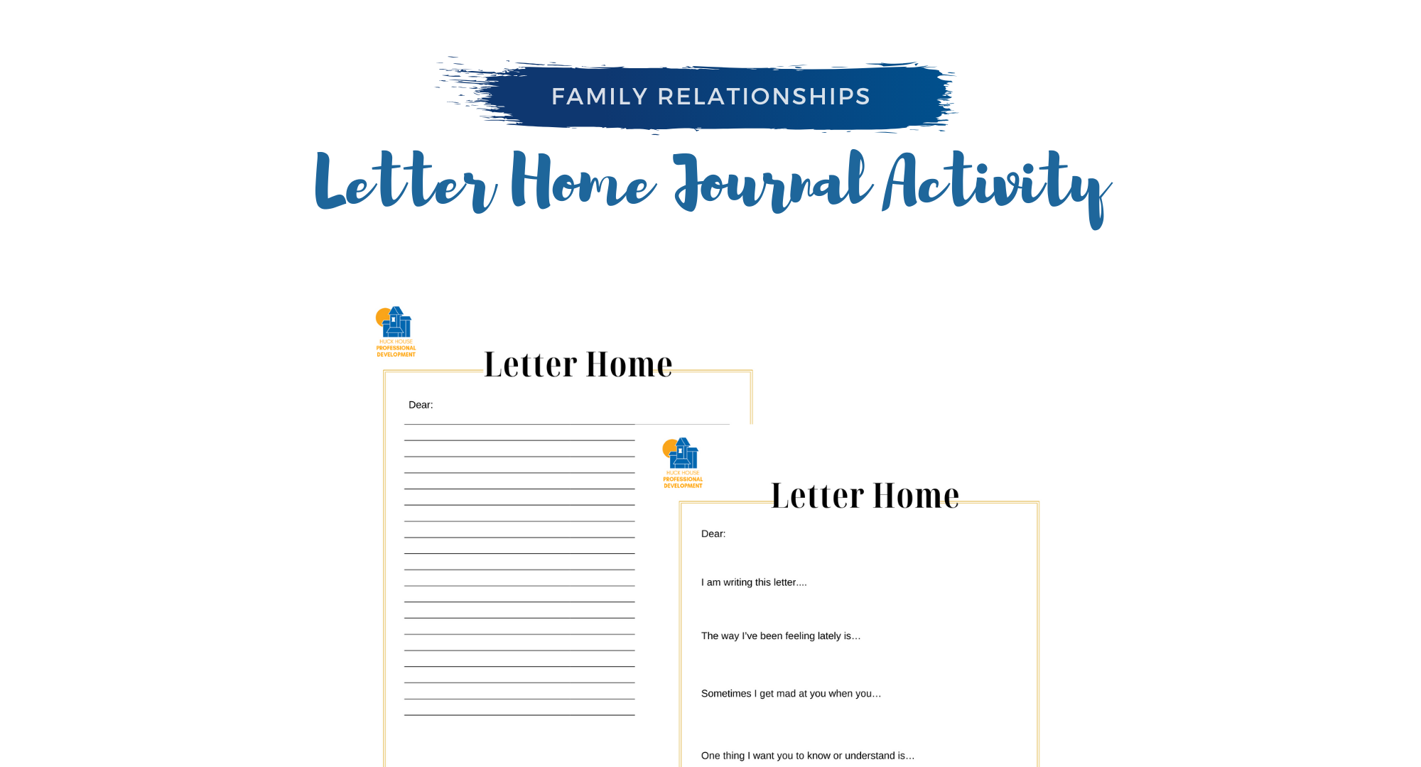 Letter Home Journal Activity In