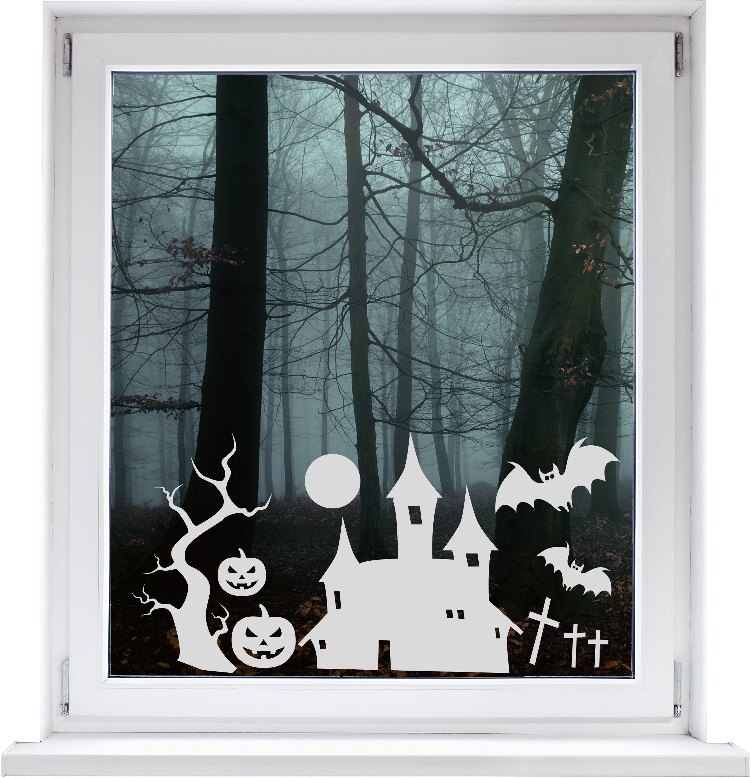 Dekofolie Halloween Geisterschlo