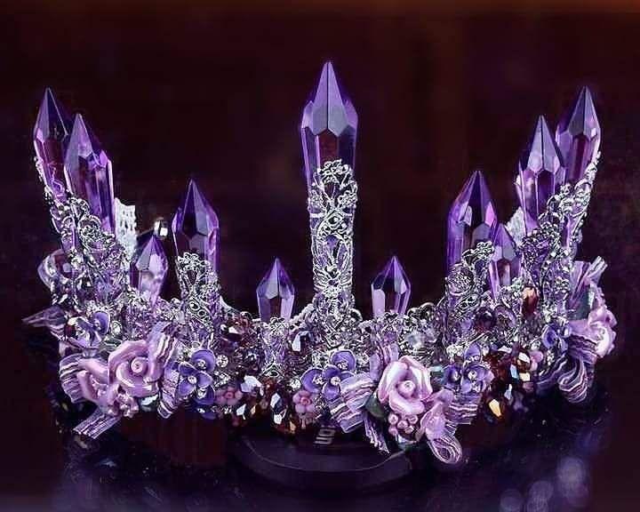 Purple Enchantress Tiara Wedding Bridal Jewellery Purple Crown Queens Tiaras