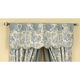 Waverly 16 L Lake Home Classics Scalloped Valance Valance Home Lowes Home Improvements