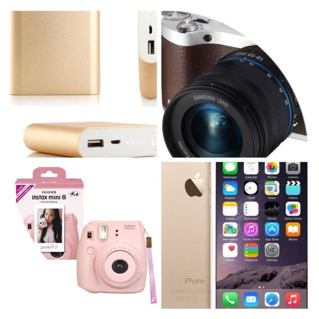 """Comic Con Must haves"" by malibumarablog ❤ liked on Polyvore featuring Samsung and Fuji"