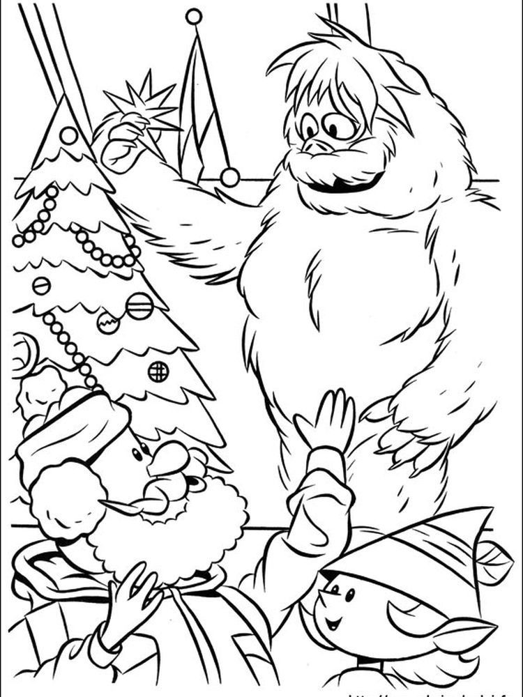 Rudolph And Clarice Decorates Tree Color Sheet Rudolph Coloring Pages Christmas Coloring Sheets Santa Coloring Pages