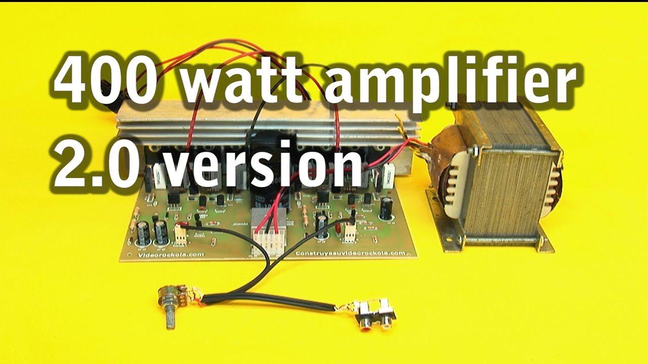 hight resolution of 400 watt amplifier 2 0 version
