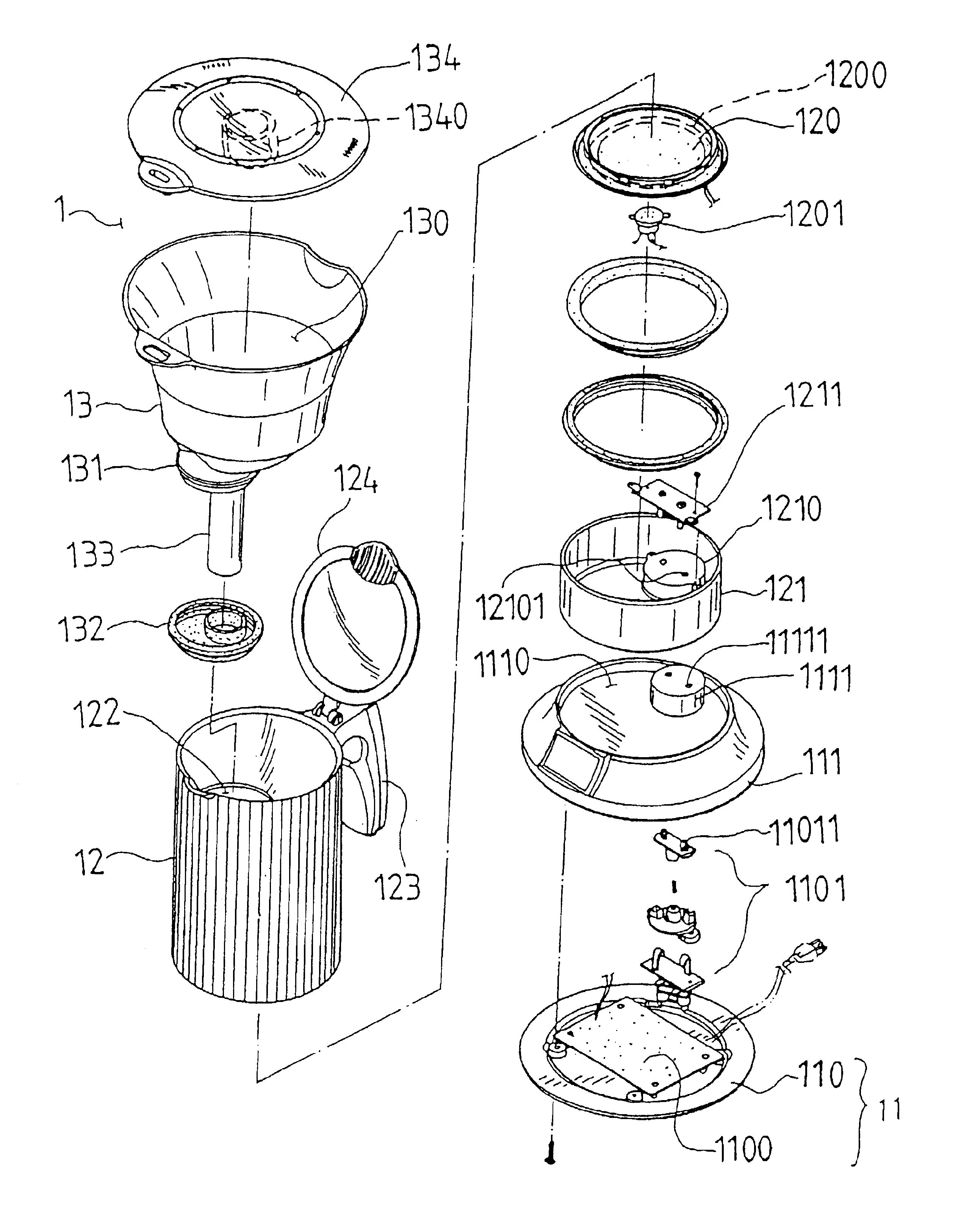 Coffee Maker Exploded View Product Deconstruct
