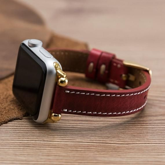 Apple iWatch Strap, Leather Very Thin Apple Watch Band 1-2-3-4