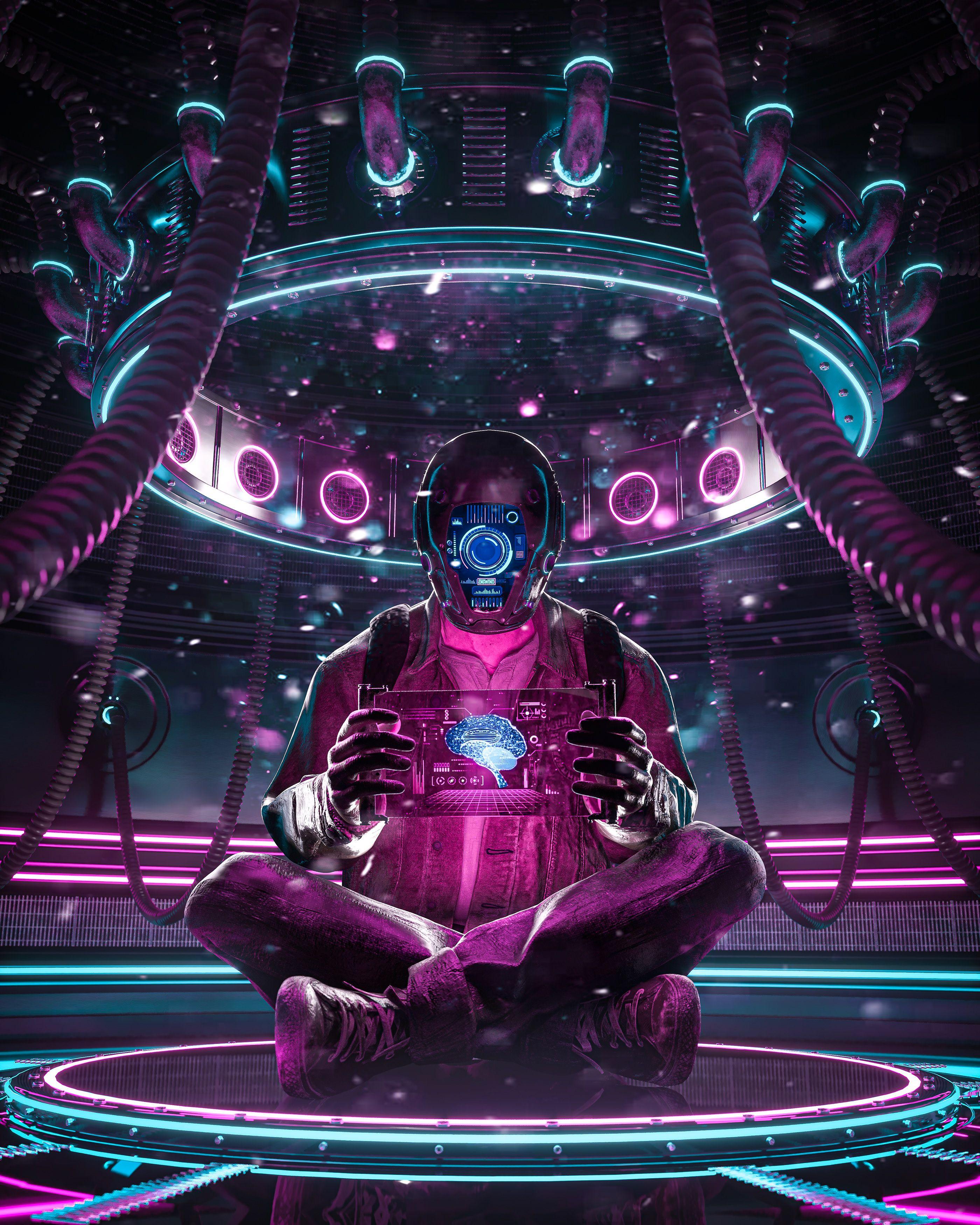 Neon Cyberpunk 3d Art By Engwind Cyberpunk Art Cyberpunk Aesthetic Art