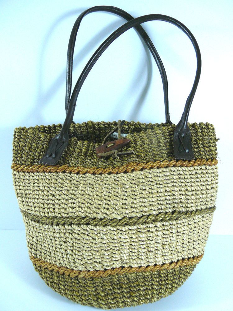 Woven Sisal Jute Handbag Boho Market Beach Bag Made In Philippines ...