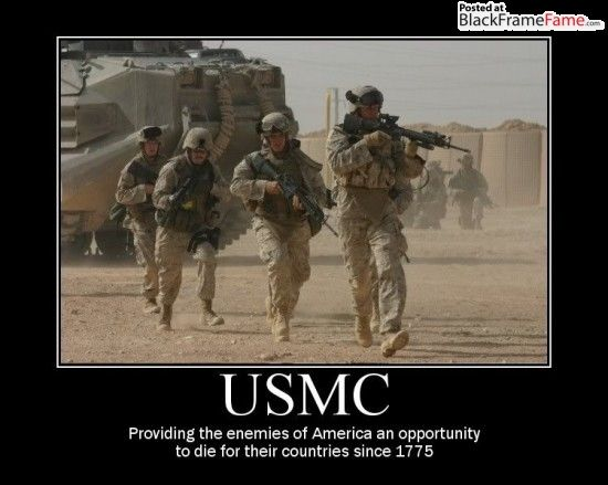 bc6367c69be9db5ffa08ac8d5dea9de9 usmc providing the enemies of america an opportunity to die for