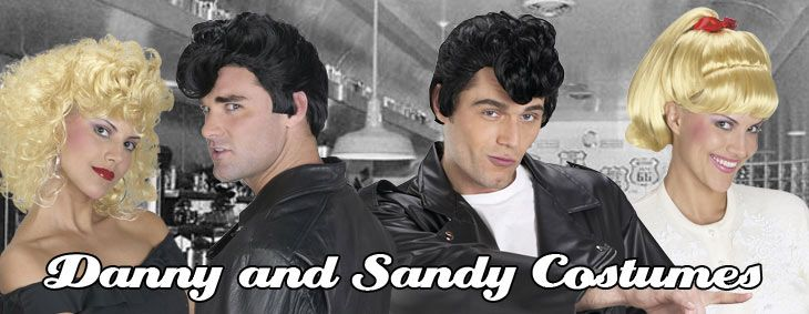 Danny  Sandy Grease Couple Halloween costumes Pinterest - greaser halloween costume ideas