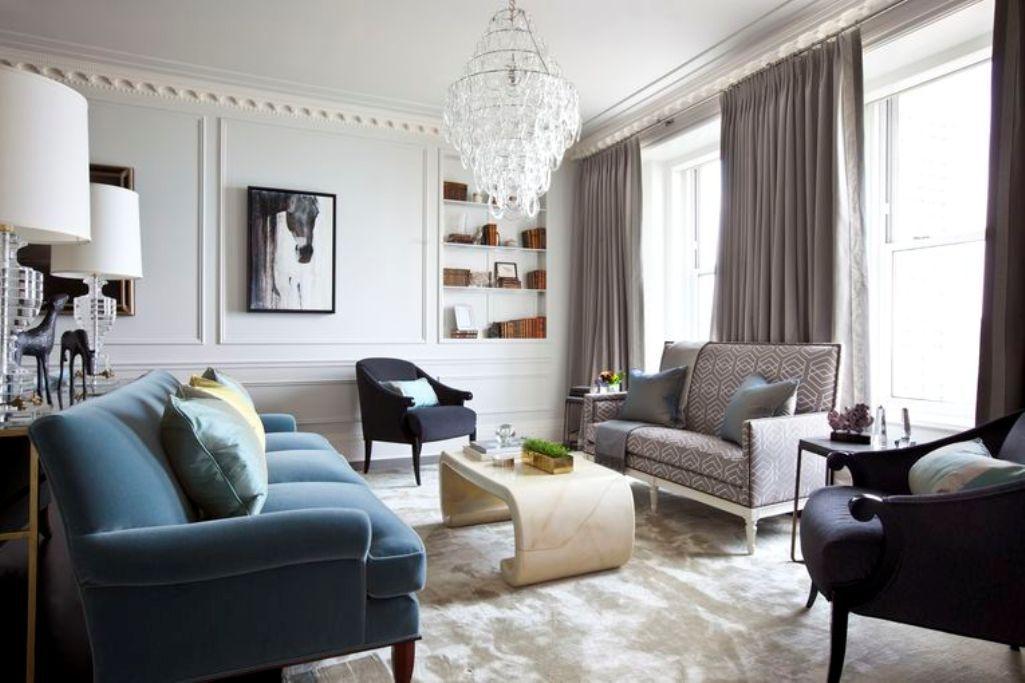 Art Deco Inspired Living Room Bra Cadaver Idea Chandelier And