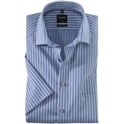 Photo of Olymp Luxor short sleeve shirt, modern fit, Global Kent, Royal, 40 Olymp