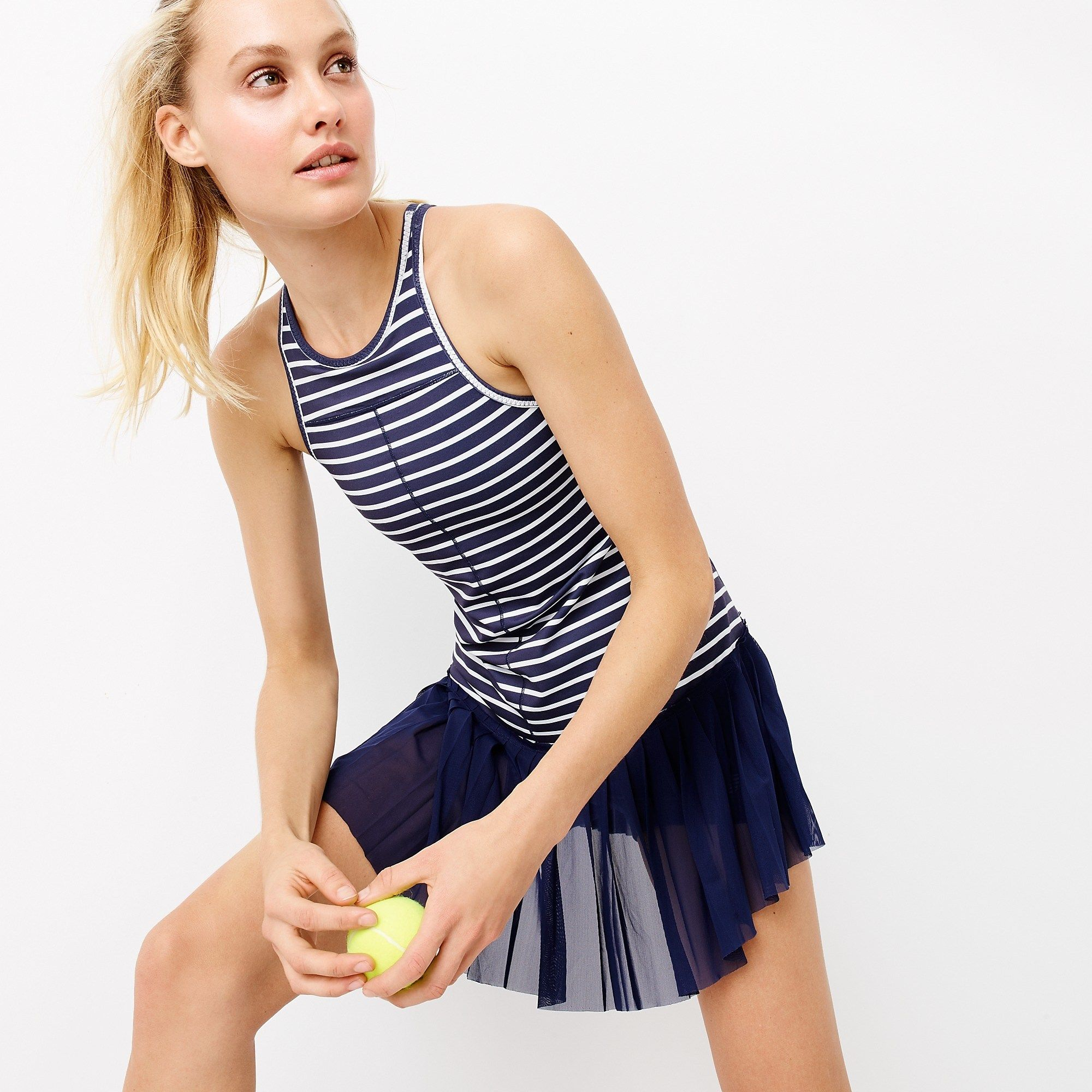 New Balance For J Crew Tennis Dress In Stripe Tennis Dress Tennis Clothes Girls Tennis Dress