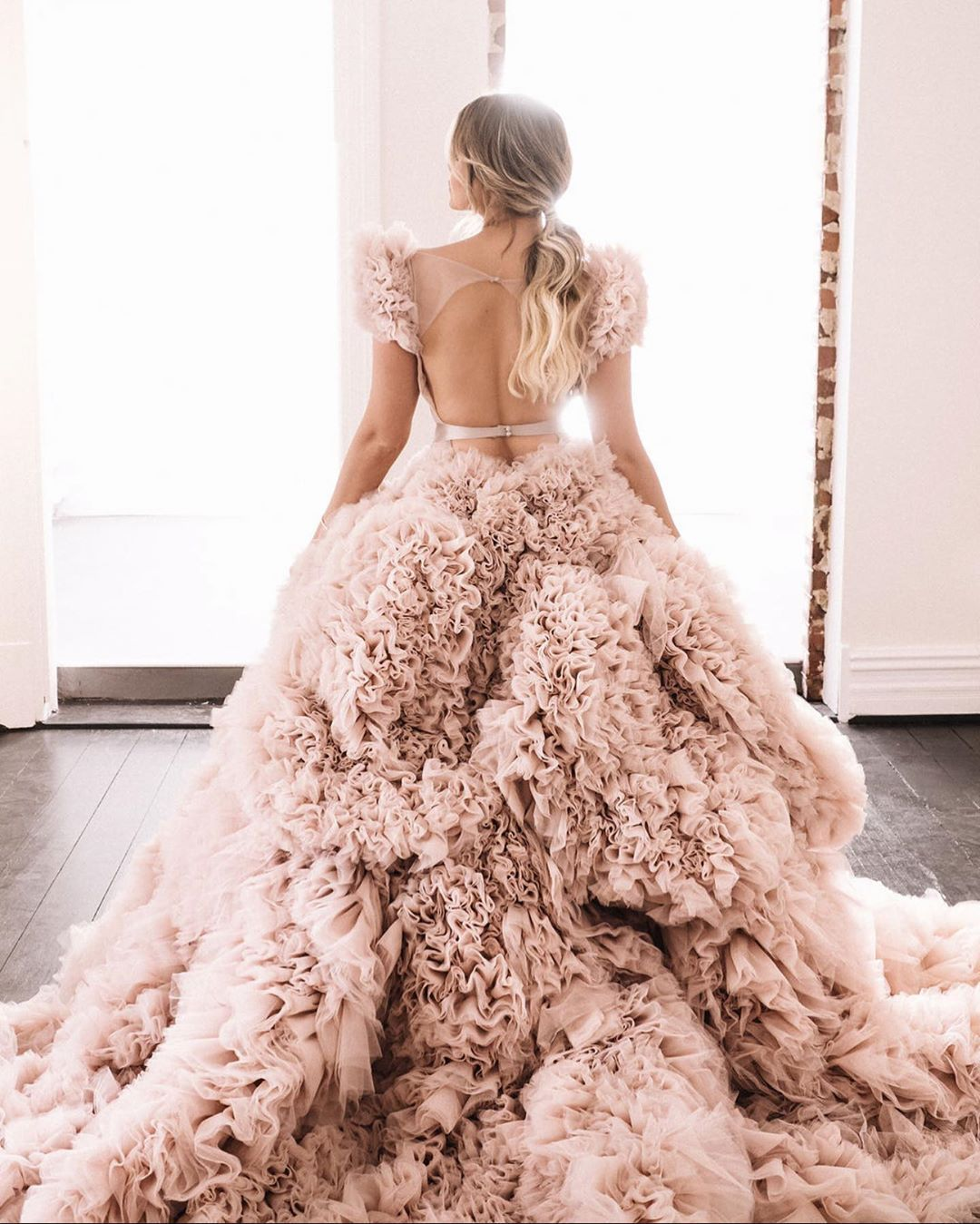Pretty In Pink Our Favorite Blush Wedding Dresses In 2020 Blush Pink Wedding Dress Blush Gown Wedding Dresses Blush