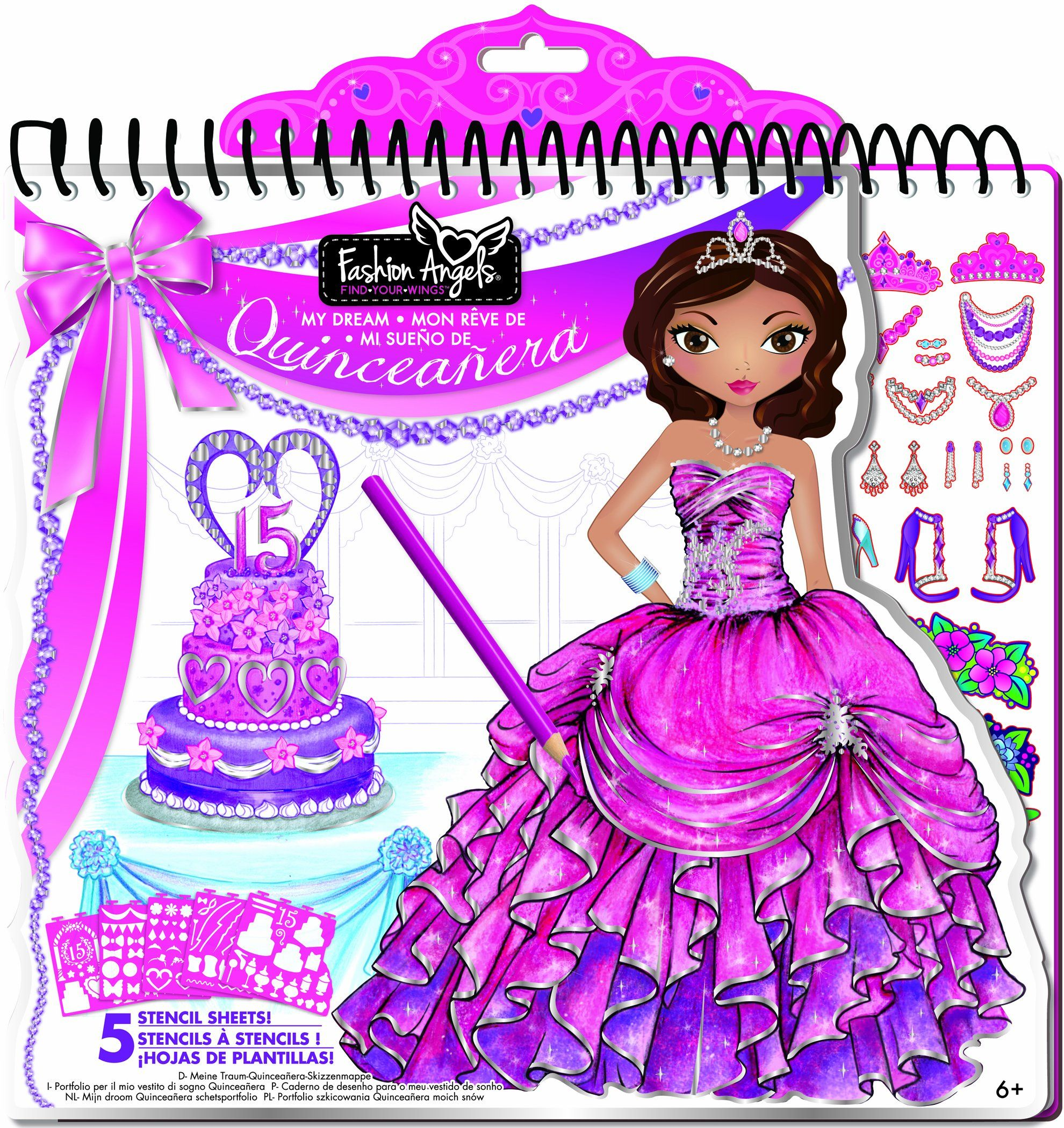 Fashion Angels My Dream Quinceanera Full Size Portfolio Toys Games For Aubree
