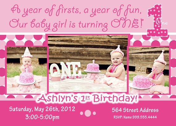 Everything one birthday party 1st birthday girl invitation 1st everything one girl invite everything one girl birthday invitation birthday girl invite birthday party 1 girl baby pink invite dots stopboris Image collections