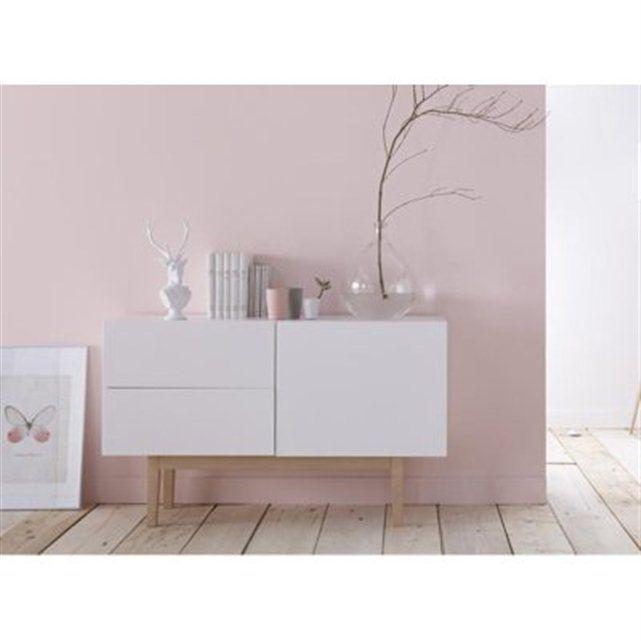 La Redoute Buffet design blanc & bois COPENHAGUEM