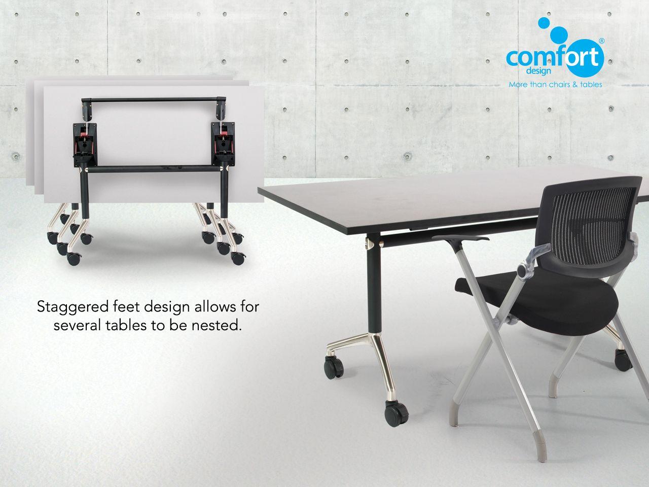 Clinton folding table with castors comfort design the
