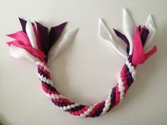 Diy Fleece Dog Toy Made A Round Tug Rope With 3 Colours Diy