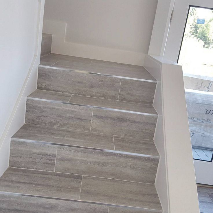 Great Stair Tiles Look At Those Schluter Edged , Stone Tile Stairs... The
