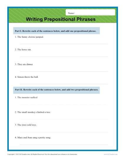 Preposition Worksheets For Middle School Inspirational Prepositional Phrases Worksheet Preposition Worksheets Prepositional Phrases Middle School Maps