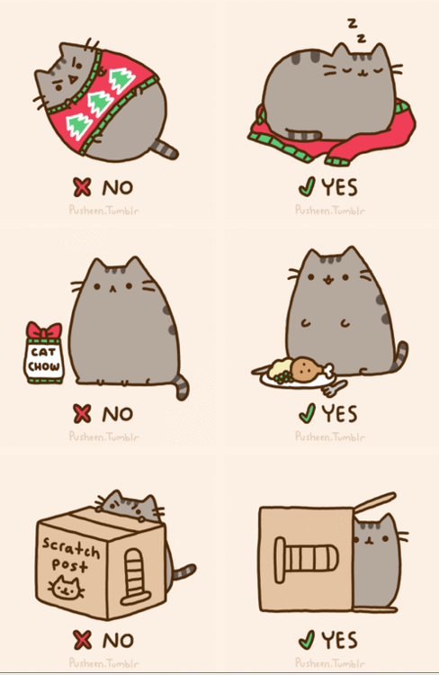 cartoon cat | Tumblr | Pusheen cat, Pusheen, Christmas cats
