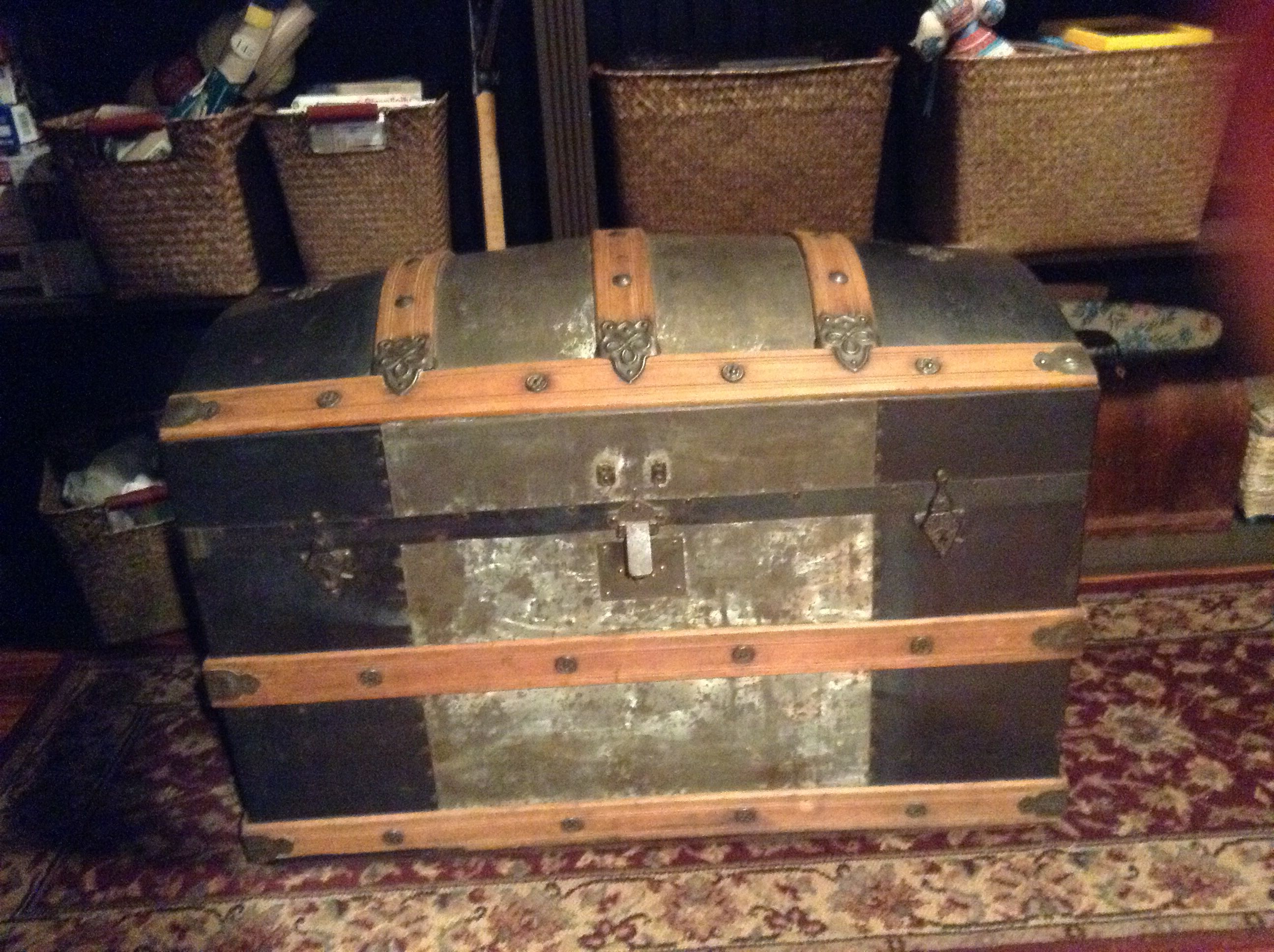 Patented July 9 1872 Baer Trunk Made In Evansville Indiana