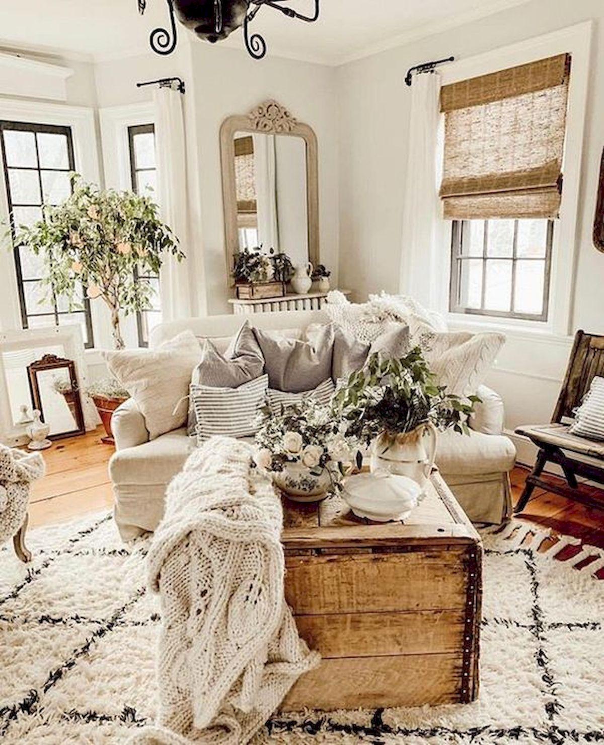 50 Cozy Farmhouse Living Room Design And Decor Ideas Farmhouse