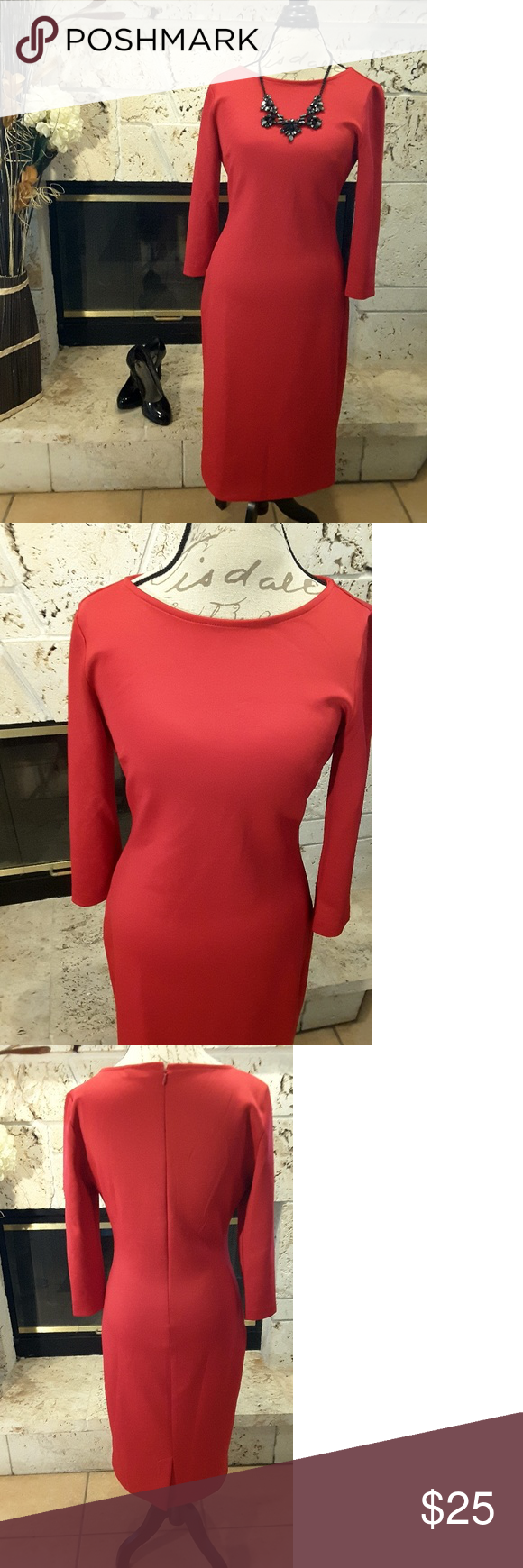 Nyuc red sleeve dress in my posh picks pinterest