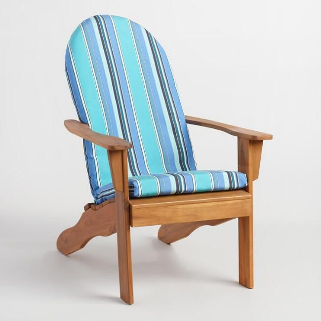 Sunbrella Oasis Dolce Stripe Adirondack Chair Cushion V3