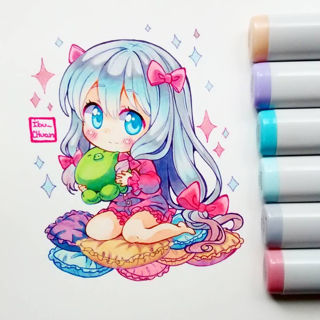 how to draw a donut girl