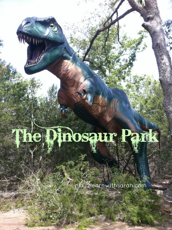 The Dinosaur Park in Cedar Creek where you can walk with the