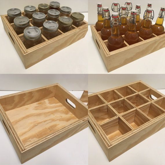 Simple Plywood Canning Crate Mason Jar Storage Canning Jar Storage Wood Projects For Kids